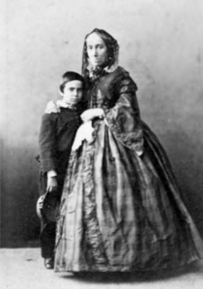 Félicie and her son Guillaume Sabatier