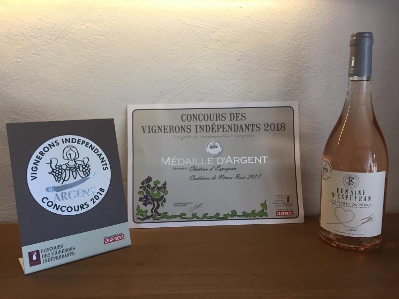 Domaine d'Espeyran L'envol 2017 primé au concours des vignerons indépendants